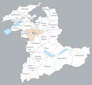 Karte: Halbkanton Bern